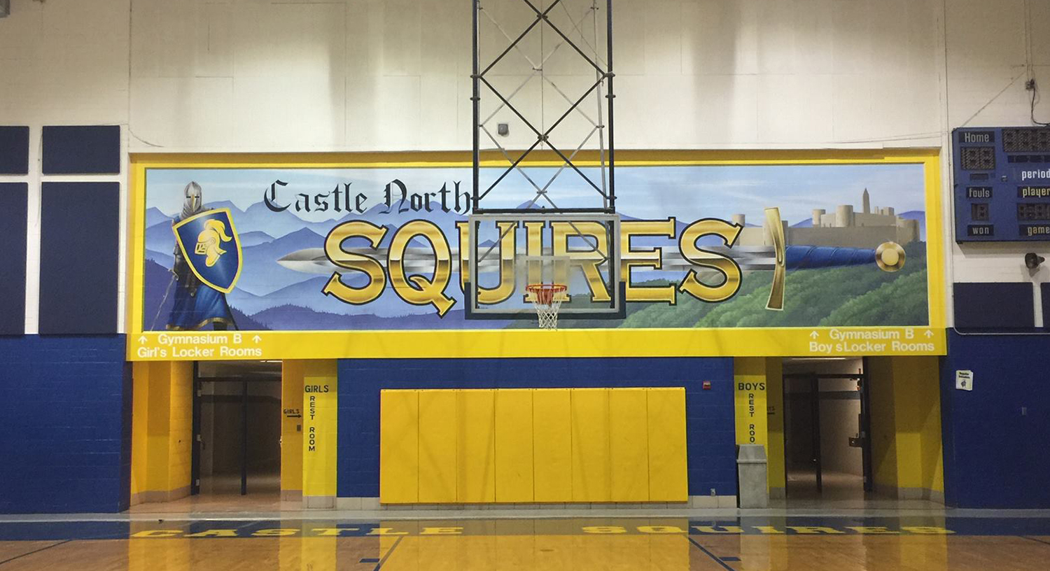 Castle North Mascot Mural
